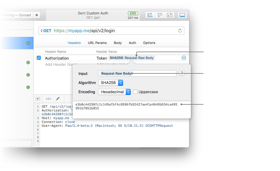 Paw dynamic values make web API testing flexible