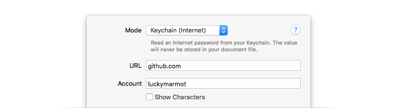 OS X Keychain Integration